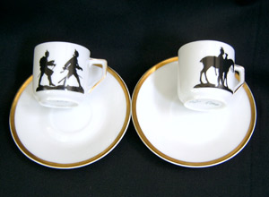 Demi cups and saucers